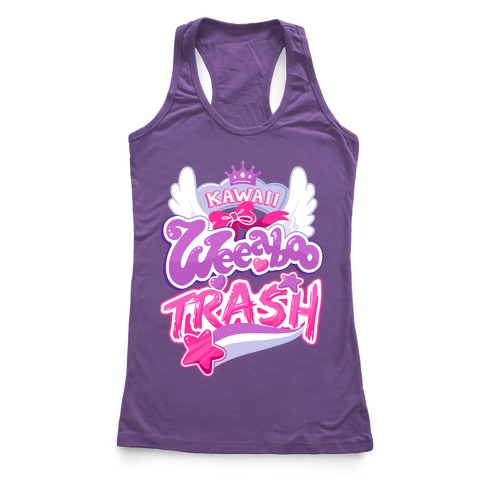 Kawaii Weeaboo Trash Anime Logo Racerback Tank Top