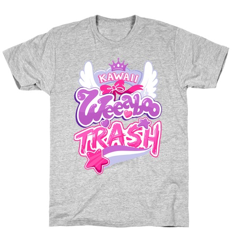 Kawaii Weeaboo Trash Anime Logo T-Shirt