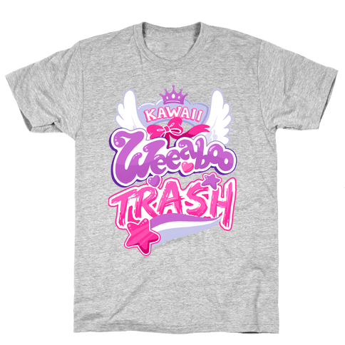 Kawaii Weeaboo Trash Anime Logo Mens T-Shirt