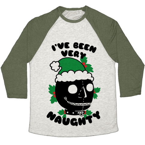 I've Been Very Naughty Baseball Tee