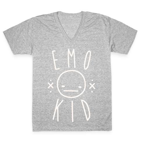 Emo Kid V-Neck Tee Shirt