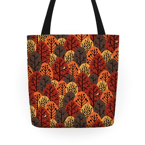 Fall Trees Pattern Tote