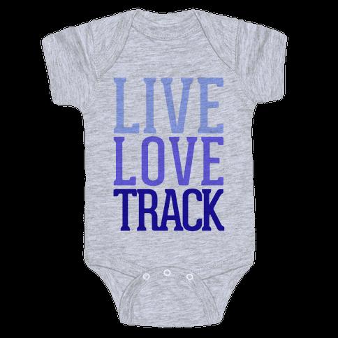 Live Love Track Baby Onesy