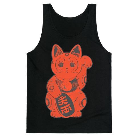 Japanese Lucky Cat Tank Top