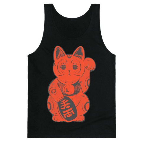 Japanese Lucky Cat Tank Top