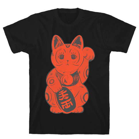 Japanese Lucky Cat Mens T-Shirt