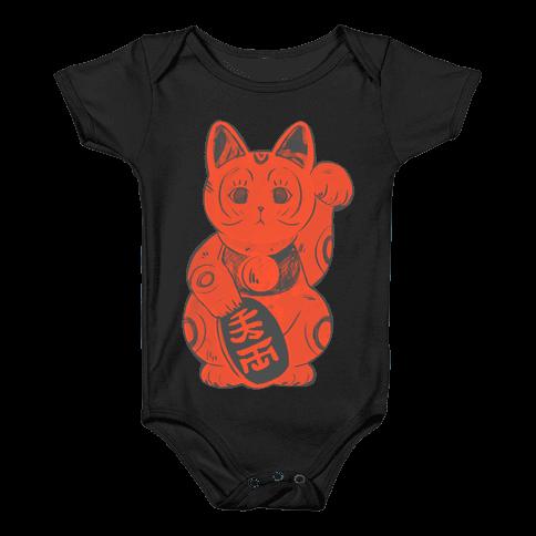 Japanese Lucky Cat Baby Onesy