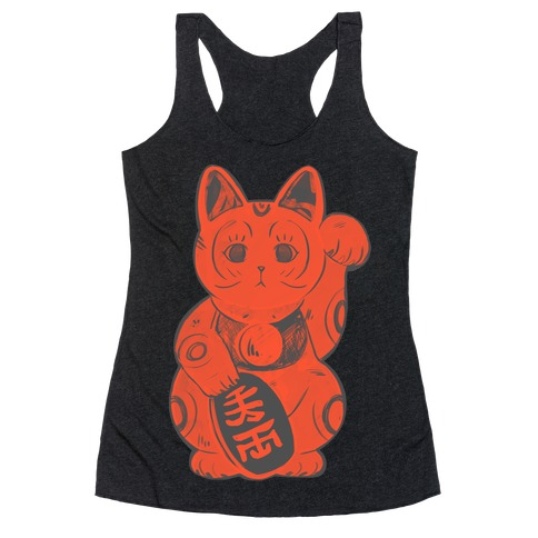 Japanese Lucky Cat Racerback Tank Top