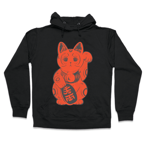 Japanese Lucky Cat Hooded Sweatshirt