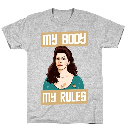 My Body My Rules (troi) Mens T-Shirt