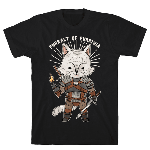 The Whisker Purralt Of Furrivia Cat Parody Mens/Unisex T-Shirt