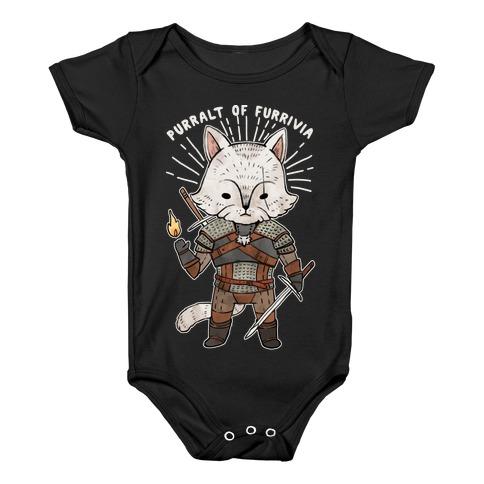 The Whisker Purralt Of Furrivia Cat Parody Baby Onesy