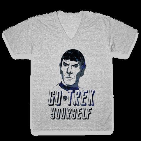 Go Trek Yourself V-Neck Tee Shirt