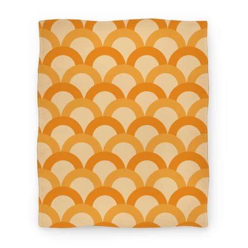 Orange Scale Pattern Blanket