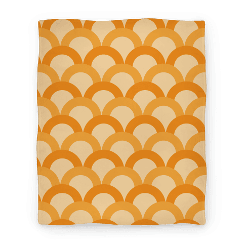 Orange Scale Pattern Blanket