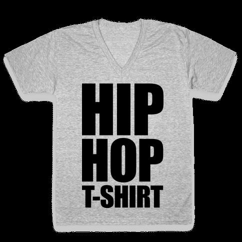 Hip Hop T-Shirt V-Neck Tee Shirt