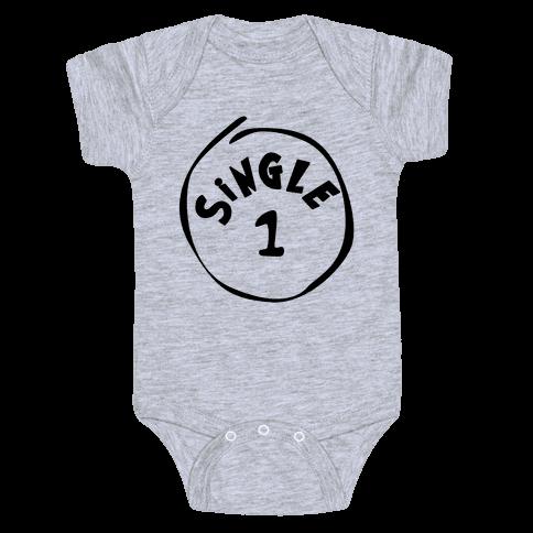 Single 1 Baby Onesy
