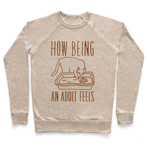 How Being An Adult Feels Pullover