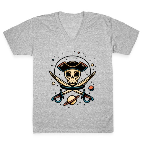 Space Pirate V-Neck Tee Shirt