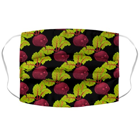 Beet Booty Pattern Accordion Face Mask