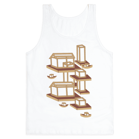 Floating Lantern City Tank Top
