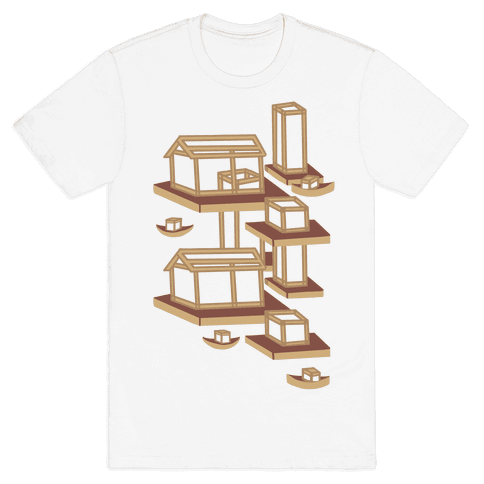 Floating Lantern City Mens T-Shirt