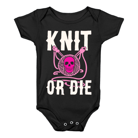 Knit or Die Baby Onesy