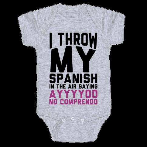 Spanish Homework Baby Onesy