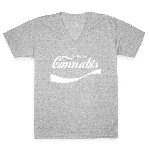 Enjoy Cannabis V-Neck Tee Shirt
