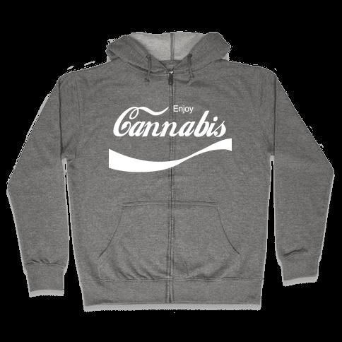 Enjoy Cannabis Zip Hoodie