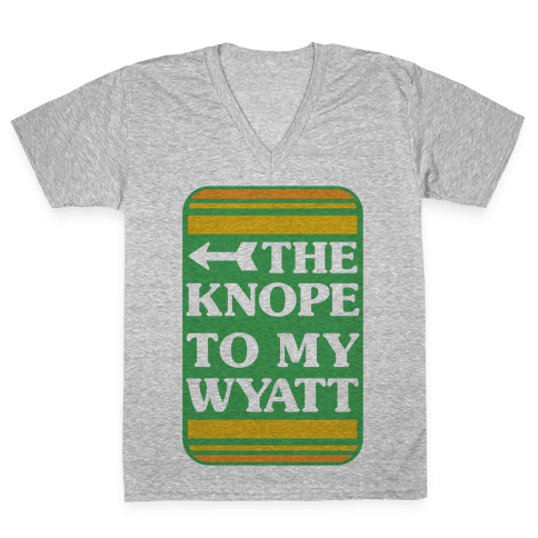 The Knope To My Wyatt V-Neck Tee Shirt