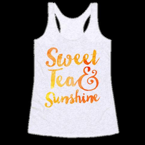 Sweet Tea & Sunshine Racerback Tank Top