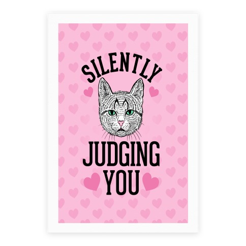 Silently Judging You Poster