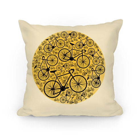 All Bikes Go Full Circle Pillow