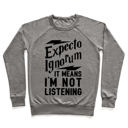 Expecto Ignorum - It Means I'm Not Listening Pullover