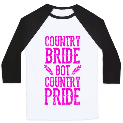 Country Bride Baseball Tee