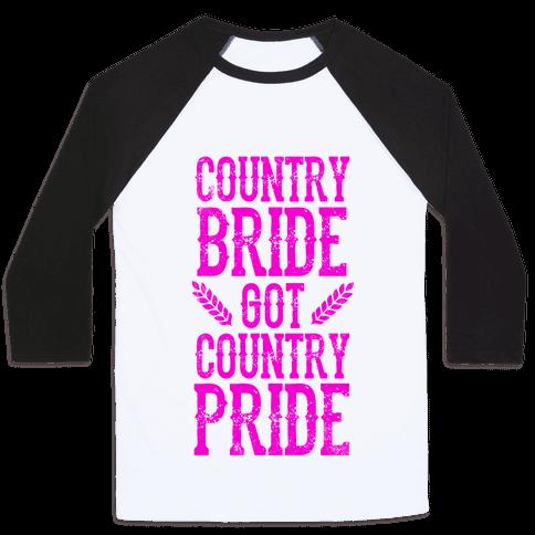 Country Bride Baseball Tee