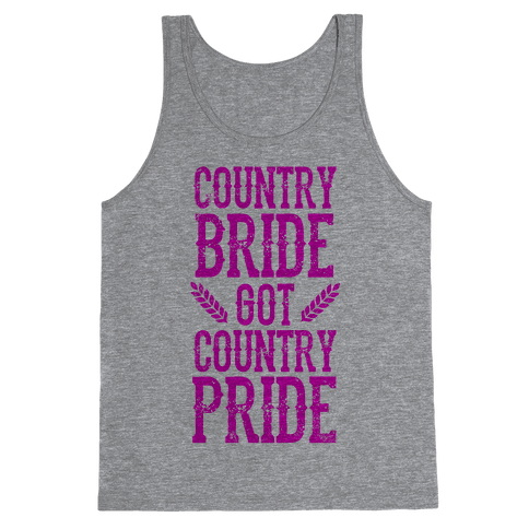 Country Bride Tank Top