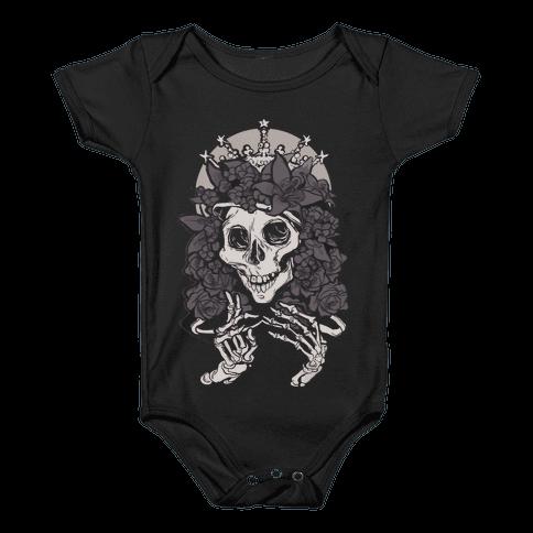 Mother's Lovely Skull Baby Onesy