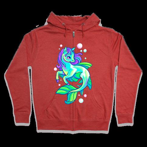 Neon Rainbow Kelpie Zip Hoodie