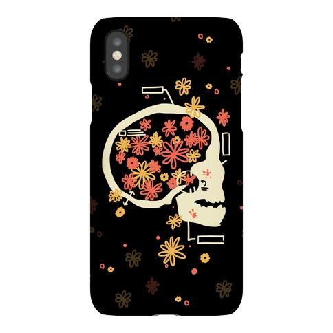 Terminal Daydream Flower Skull Phone Case