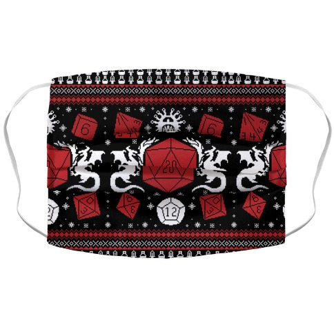 D&D Ugly Sweater Accordion Face Mask