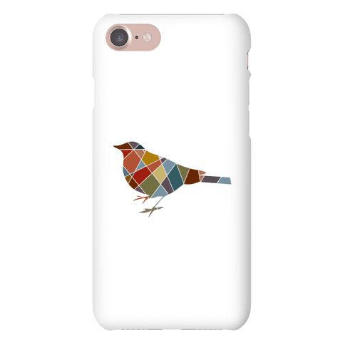 Mosaic Pattern Bird Phone Case