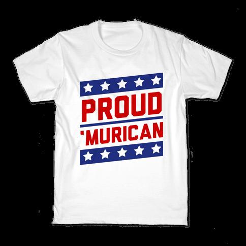 Proud Merican Patriot Kids T-Shirt