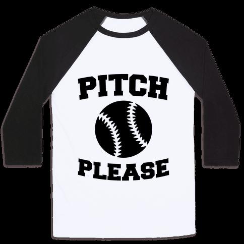 Pitch Please Baseball Tee