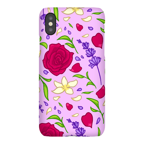 Tea Leaves And Flowers Pattern Phone Case