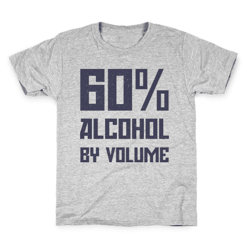 Alcohol Content Kids T-Shirt