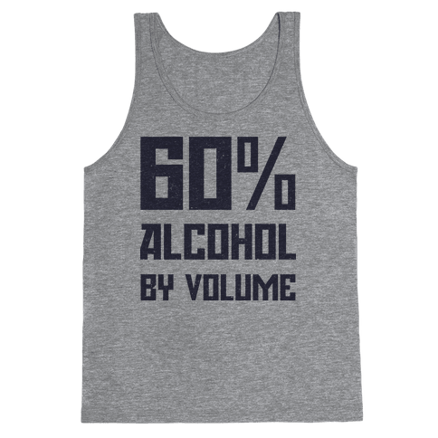 Alcohol Content Tank Top