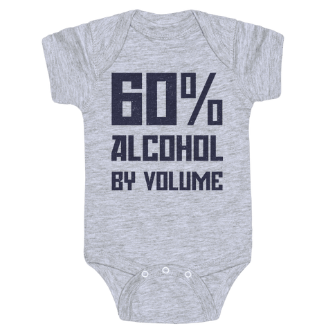 Alcohol Content Baby Onesy