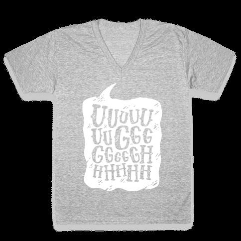 Ugh Speech Bubble V-Neck Tee Shirt